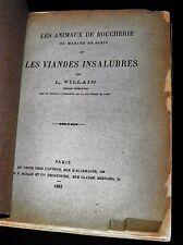 VILLAIN Animaux de Boucherie Marché de Paris et les Viandes Insalubres EO 1883