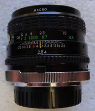 Objectif  Sigma 28mm monture Canon FD - 1: 2,8 /28. Macro