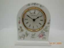 "1991 Wedgwood ""Rosehip"" Bone China Mantle Clock ~ Made in England"