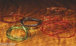 D RIB -  Ribbing in 20 colors & 2 sizes available Fly Tying vinyl