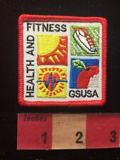 HEALTH & FITNESS Patch - GSUSA - Girl Scouts 817
