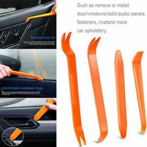 4PCS CAR TRIM REMOVAL TOOL KIT SET PANEL DOOR PLASTIC PRY DASH INTERIOR CLIP uk
