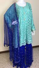 Pakistani Indian Designer Party Wear gharara XL, XXL