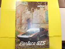 CATALOGO Catalog originale DE TOMASO Pantera GTS   GT4 - ottimo(fF2074) (S)