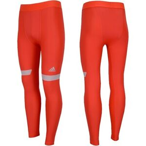 Adidas Tf Chill Men's Training Compression Trousers Leggings Pants Running Red