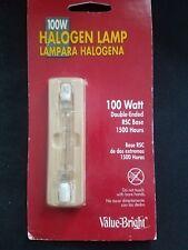 100W Halogen Lamp Bulb Watt Double Ended RSC Base 1500 Hours NIP
