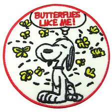 Snoopy Peanuts Charlie Brown Woodstock Butterflies Like Me Patch Iron On