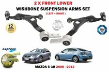 FOR MAZDA 6 ALL 2008-2013 LEFT & RIGHT 2 X FRONT LOWER SUSPENSION WISHBONE ARMS