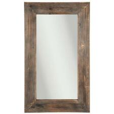 "Brown Wood Mirror Rustic 38""L x 23""W"