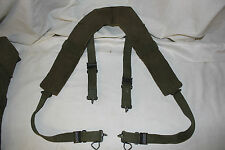 US Military Issue Vietnam Era Field Gear Canvas H Suspenders LARGE