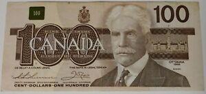 100 Dollar Canadian Bill, 1988