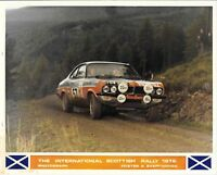BARRIE WILLIAMS SCOTTISH RALLY 1972 VAUXHALL DTV VAUXHALL FIRENZA  PHOTOGRAPH 4