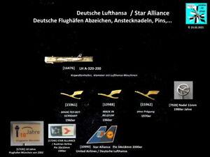 LUFTHANSA Star Alliance Airlines Flughafen Abzeichen, Anstecknadeln AUSSUCHEN