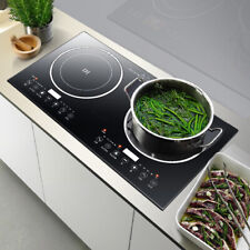 Electric Dual Induction Cooker Countertop 2400W Double Burner Cooktop Portable!!
