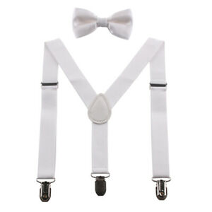 Baby Boy Suspenders Bow Tie for Kids  Adjustable Elastic Classic Accessory Sets