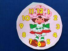 1984 Kenner Strawberry Shortcake Teaching Clock Face Replacement Sticker Sheet