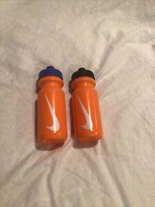 NIKE WATER BOTTLE BIG MOUTH Orange W/Black &BLUE Tops 22OZ