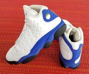 Nike Air Jordan Retro 13 Hyper Royal Blue White 414571-117 Men's Size 13