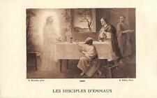 """OLD nice french rare Holy cards from 1920""""H5720"""" les disciples d emmaus"""