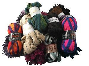Scarf Yarns Clearance 100g Balls Knitting - 11 Variations