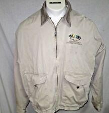 Vtg 50s Chevrolet logo Laubach Buick Work Jacket Chore Coat Mens XL Thrashed