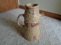unusual pottery large water vessel pitcher jug vase artist signed