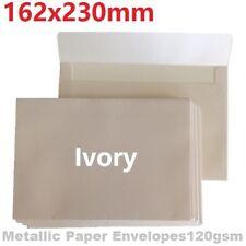 10/20x C5 Envelopes 120gsm Metallic Ivory Large Envelopes  230 x162 mm