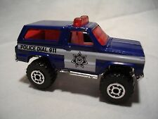 VTG MATCHBOX 1983 CHEVY 4X4 BLAZER POLICE DIAL 911