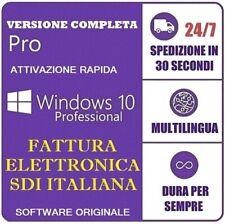 LICENZA WINDOWS 10 PRO PROFESSIONAL 32/64 BIT PRODUCT KEY FULL ESD FATTURA SDI
