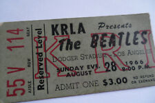 THE BEATLES 1966 Original CONCERT TICKET STUB__Los Angeles__EX+