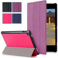 Slim Leather Folio Smart Case Stand For Amazon Kindle Fire HD 8 inch 2015 Tablet