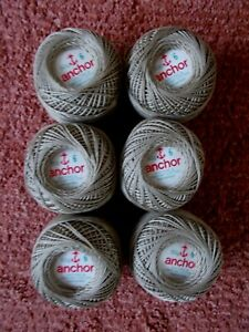 Knitting/Crochet Cotton MINK 60grms 6balls 50 Grms no 6  New/Banded Anchor