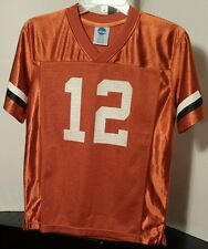 Texas Longhorns #12 NCAA Football jersey Size Youth/Boys Medium (10-12)
