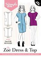 Womens BEGINNER The Zoe Dress and Top UK SIZE 8-20 Sewing Pattern