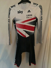L adidas skinsuit bike cycling team GB SKY union jack LS RAC