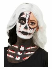Skeleton Make Up Kit Halloween Face Paints Special FX Fancy Dress Accessory