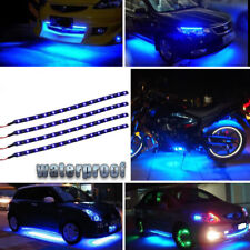4pcs Flexible Blue 15 LED 30CM Light Strip High Power Waterproof Car Motor Boat