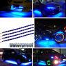 "4pcs 12"" Boat Bow Navigation Car LED Lighting Submersible Marine Strips Blue 12V"