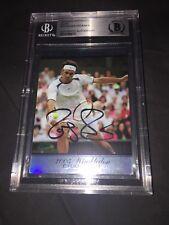 Roger Federer Signed Ace Tennis Card 2005 Wimbledon Winner Beckett Slab
