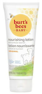Burt's Bees Baby Organic BABY BEE Nourishing Lotion ORIGINAL Moisturiser 170g