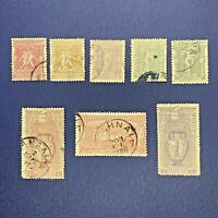 1896 GREECE OLYMPICS STAMP LOT, MOSTLY USED WITH ONE UNUSED