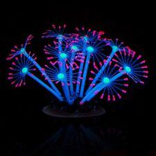 Silicone Glowing Luminous Artificial Coral Plants Fish Tank Aquarium Ornament