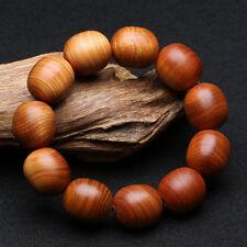 20mm Old Thuja Wood Oval Beads Tibet Buddhism Bracelet