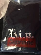 Supreme black R.i.p. long sleeve top size L