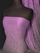 Purple Chiffon Shimmer Pleated Two Tone Sheer Material Q555 PPL