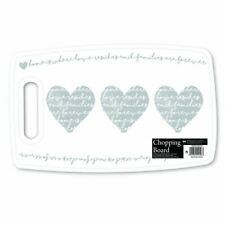 Grey Heart Chopping Board Food Prepare Cutting Kitchen Plastic Worktop Protector