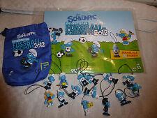 Die offiziellen Fußball-Schlümpfe EDEKA Spielfeld Diorama Sammelbeutel NEU