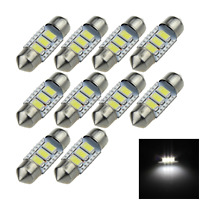 10x White Car 31MM Festoon Light Map Blub Canbus Error Free 3 5630 SMD LED I019