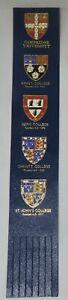 CAMBRIDGE UNIVERSITY-KINGS/JESUS/CHRISTS COLLEGE BLUE LEATHER COLLECTOR BOOKMARK