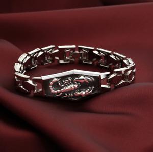 Men Scorpion Silver Plated Metal Bracelets Charms Men Bangles Wristband Pulsera